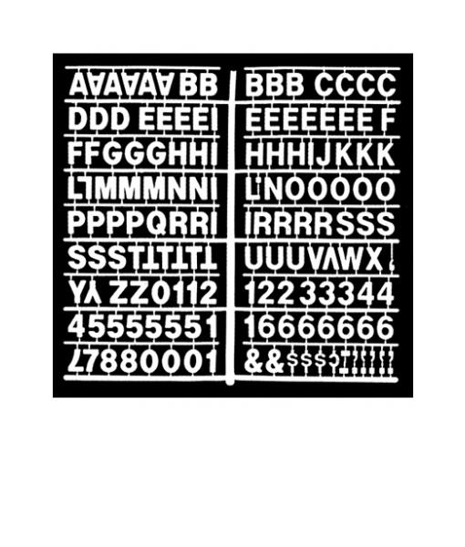 1358 – White 1″ Height Letter Kit