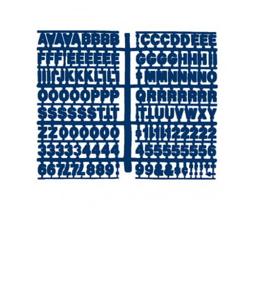 1360 – Blue 3/4″ Height Letter Kit