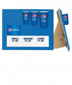 PC0284GLOBE – Pepsi Indoor Cup Display