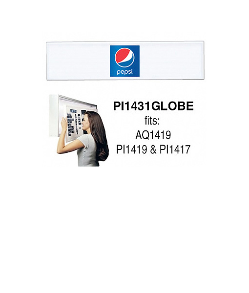 PI1431GLOBE – Track Style Replacement Faces – Pepsi Globe