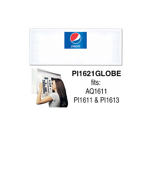 PI1621GLOBE – Track Style Replacement Faces – Pepsi Globe