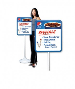 PM1816CUP – Pepsi Cup Dry Erase Board w/ Floorstand