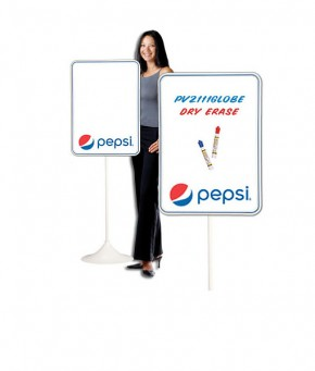 PV2111GLOBE – Pepsi Globe Arc Dry Erase w/ Floorstand