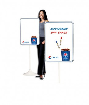 PV2112CUP – Pepsi Cup Arc Dry Erase w/ Floorstand