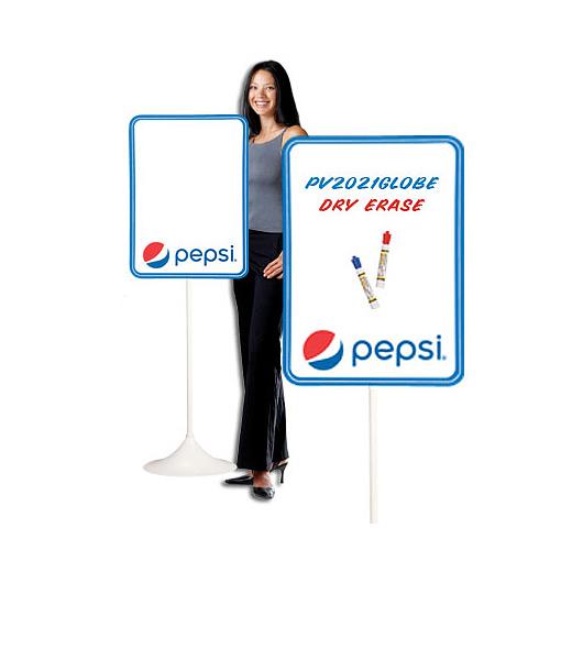 PV2121GLOBE – Pepsi Globe Arc Dry Erase w/ Floorstand