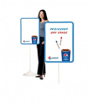 PV2122CUP – Pepsi Cup Arc Dry Erase w/ Floorstand