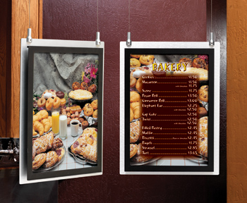 Brushed Metal Indoor Menu Board