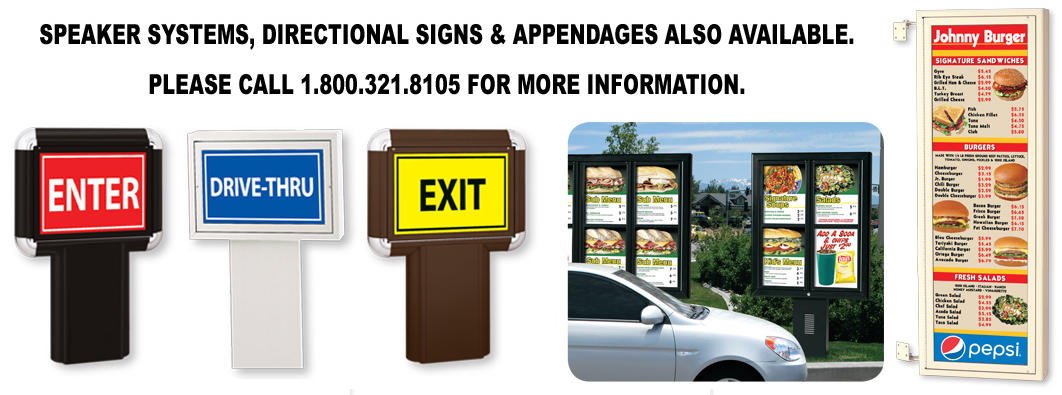 Speaker Systems, Directional Signs and Appendages