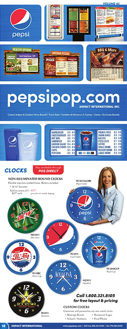 Download Pepsi Catalog and Receive a FREE Clock