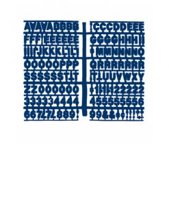 1360 – Blue 3/4″ Height Letter Kit