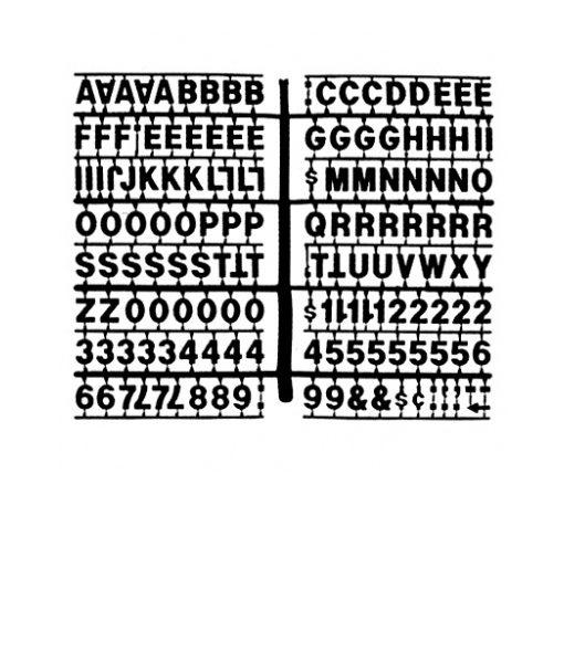 1363 – Black 3/4″ Letter Kit