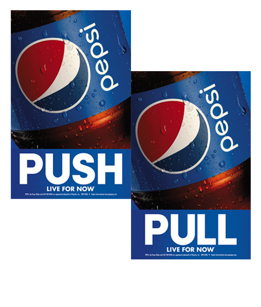 PCPUSHPULLS English Size Push/Pull Door Signs