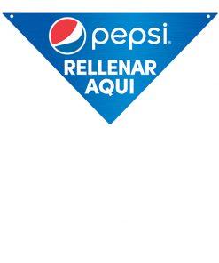 PCREFILLSS Spanish Pepsi Directional Sign – Refills Here