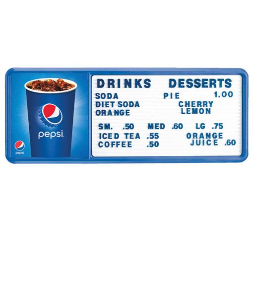 PI1490CUP – Pepsi Cup Track Menu Board