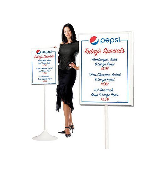PM1813GLOBE – Pepsi Dry Erase Board w/ Floorstand