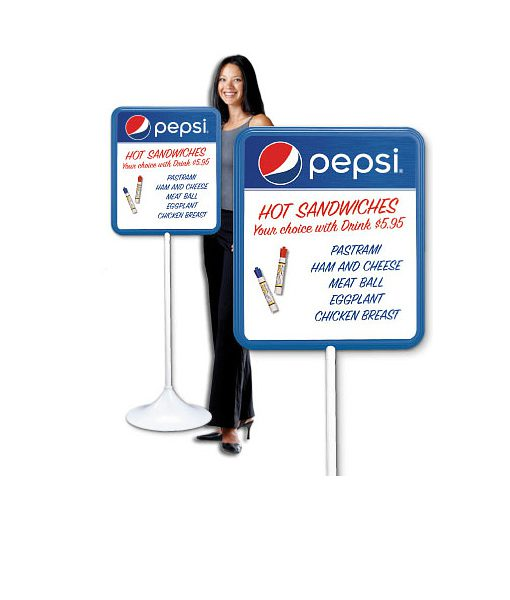 PM1822GLOBE – Pepsi Dry Erase Board w/ Floorstand