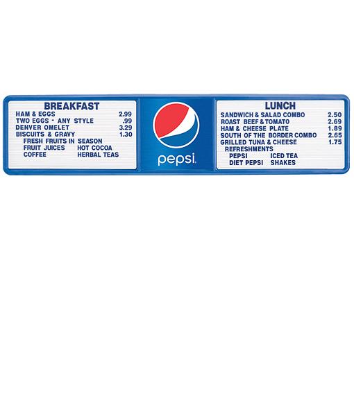 PV1395GLOBE – Pepsi Track Menu Board