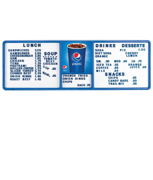 PV1435CUP – Pepsi Cup Track Menu Board