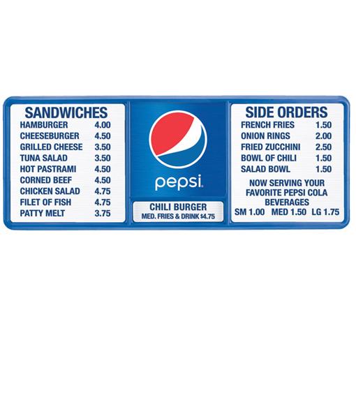 PV1446GLOBE – Pepsi Track Menu Board