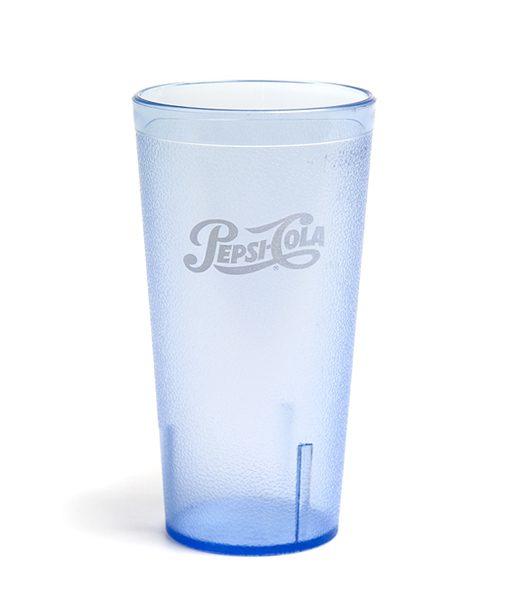24oz Pepsi Tumbler Ice Blue Script